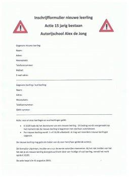 15 Jaar Autorijschool Alex de Jong